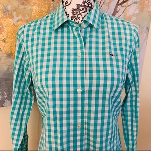 VINEYARD VINES GINGHAM Button Down Top